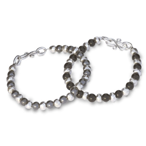 Haematite and Silver Nugget Bracelet