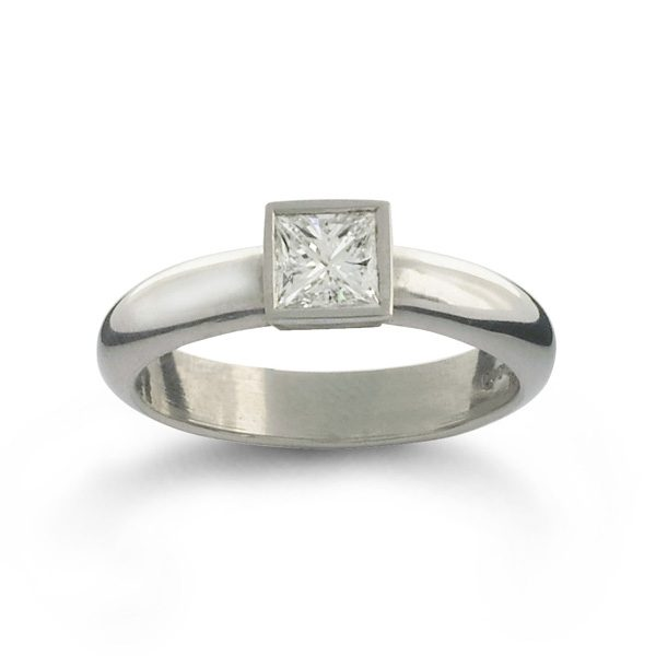 Modern Princess Cut Diamond Engagement Ring