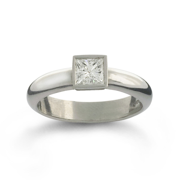 Famous 0.6ct Princess Cut Diamond Engagement Ring - Pruden And Smith RH26