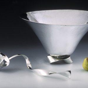 Silver Punch Bowl and Ladle