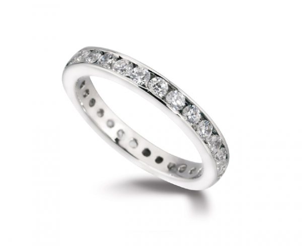 Eternity Ring Channel Set Diamond