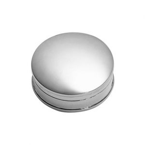 Silver Pill Box in a round shape made in solid silver