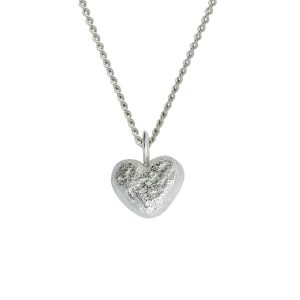 Nugget Heart Pendant Silver, Yellow or Rose Gold Vermeil