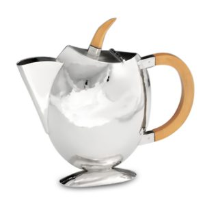 Silver Oval Coffee Pot