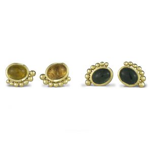 18ct Gold Tourmaline Roman Earstuds