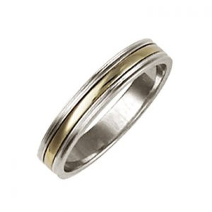 Two Colour Five Band Ring