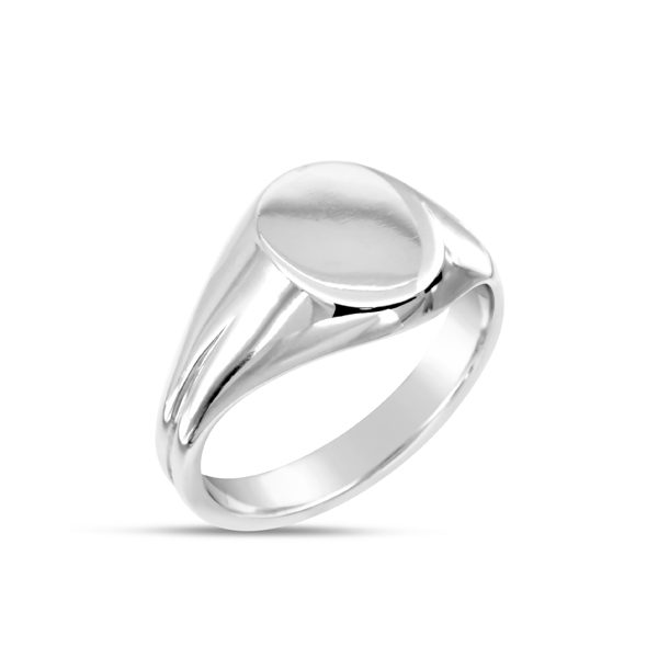 Double Shanked Oval Signet Ring by Pruden and Smith, Sussex