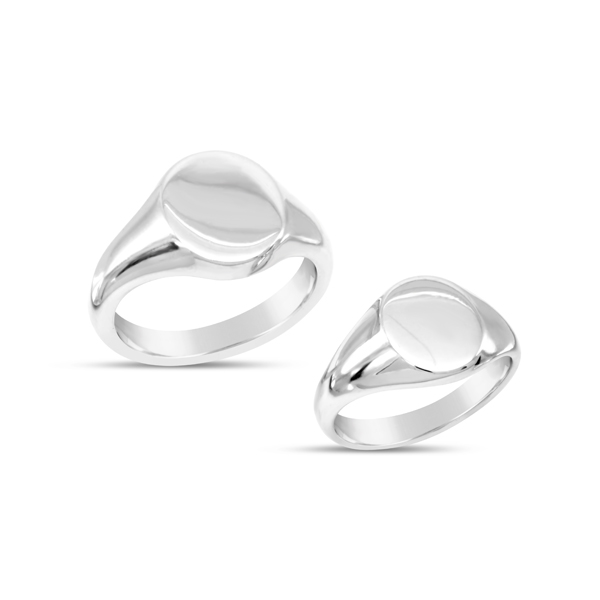 oval signet ring in silver 13x11mm pruden and smith