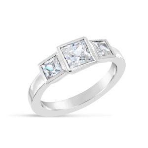 Trilogy Ring 1.8ct Princess Cut Diamond