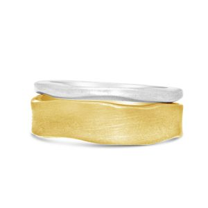 side hammered rings