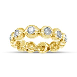 full eternity ring 6mm nugget and diamond in 18ct yellow gold