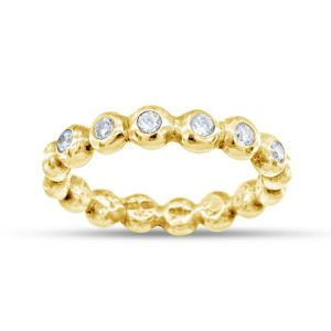 nugget eternity ring in 18ct gold and diamond full or half