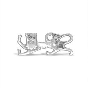 Silver Lion Brooch