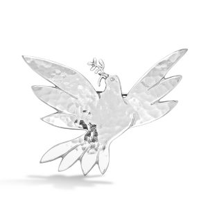 spreading wings dove brooch