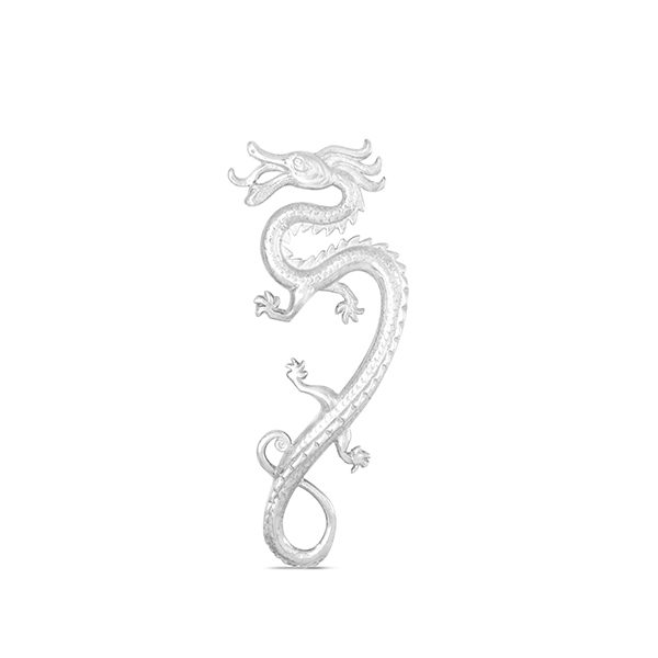 Silver Dragon Brooch