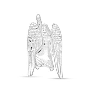 Silver Flying Angel Brooch