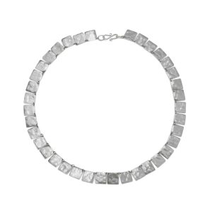 Silver Squares Marwar Necklace