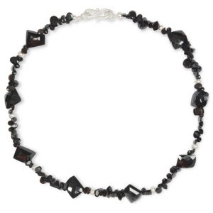 Onyx Faceted Gemstone Necklace