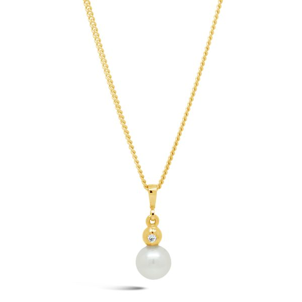 Diamond, Akoya Pearl and Pendant