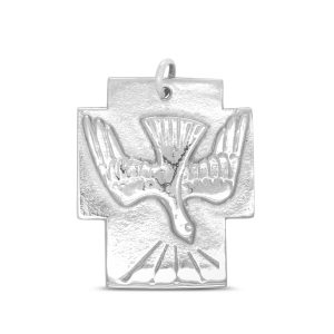 Silver Dove Cross Pendant