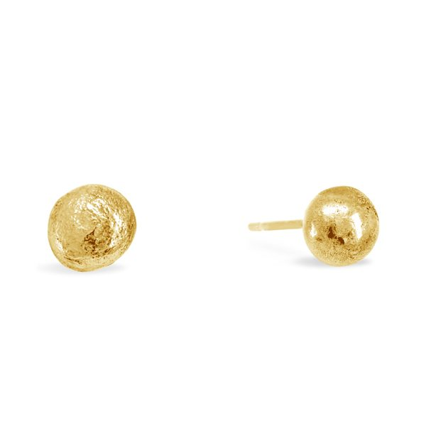 Gold Nugget Ear Studs