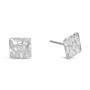 Silver Marwar Square Earstuds
