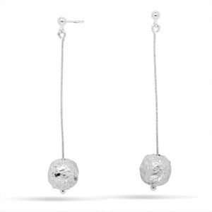 Hollow nugget drop earrings