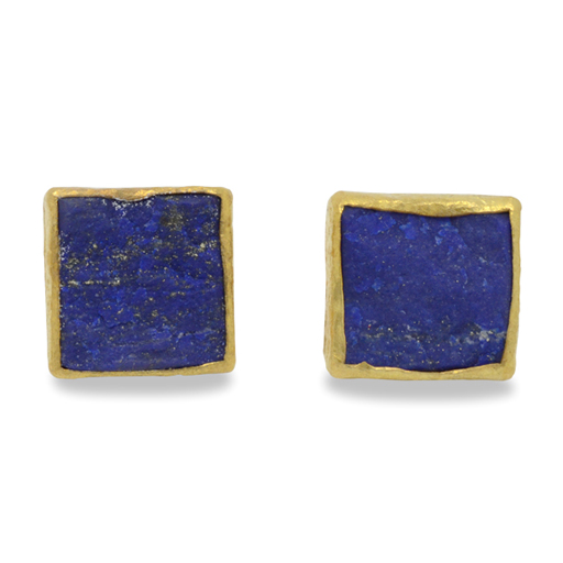 12mm Square Lapis Ear Studs