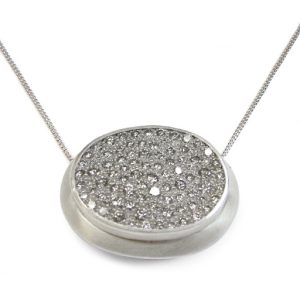 Pave Set Diamond Cluster Pendant