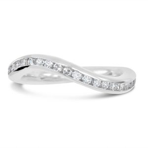 made to fit eternity ring in platinum and diamond handmade