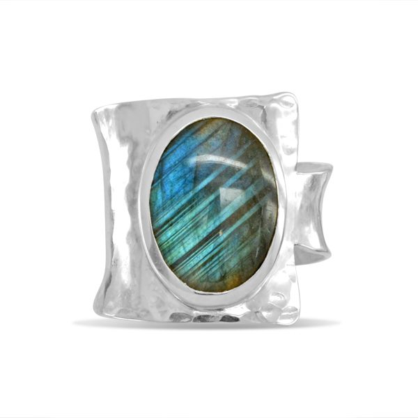 labradorite dress ring