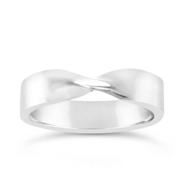 platinum twisted wedding band