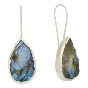 blue labradorite teardrop earrings