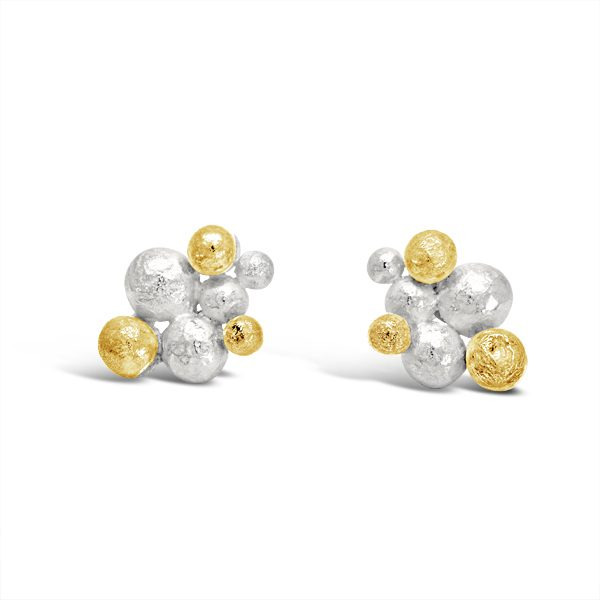 Gold Silver Nugget Studs