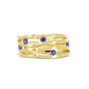 unusual gold sapphire ring