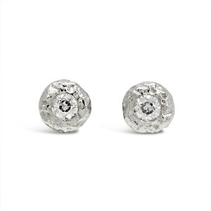 Diamond Nugget Ear Studs