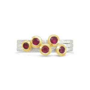 Ruby Stacking Ring with 18ct Gold Setting