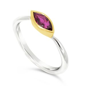 ruby platinum and gold ring