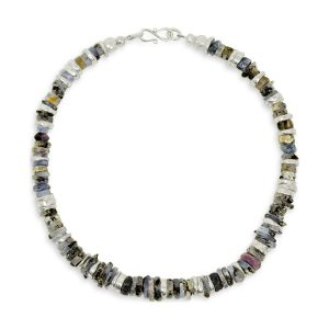 Blue Sapphire necklace and Silver Disc Necklace