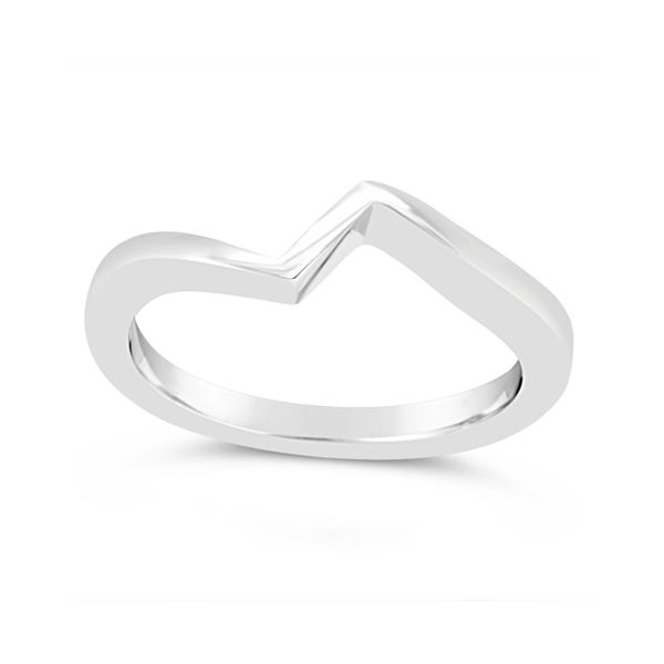 Fitted Wedding Band For Flat Twist Ring