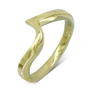18ct Gold Fitted Band For Twist Ring