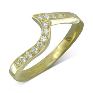 18ct Gold Fitted Eternity Ring For Twist Ring