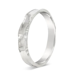 heavy hammered silver bangle