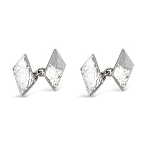 Rectangular Chain Peened Cufflinks