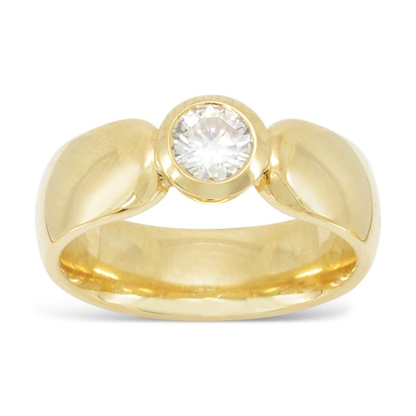 18ct Gold Ring With Brilliant Cut Diamond