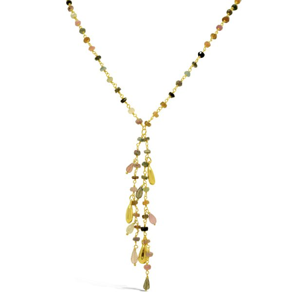 Tourmaline Tassel Necklace