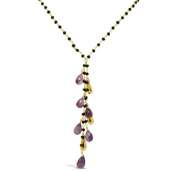 Amethyst and Onyx Necklace