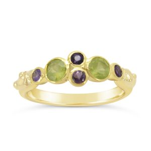 18ct yellow gold peridot ring