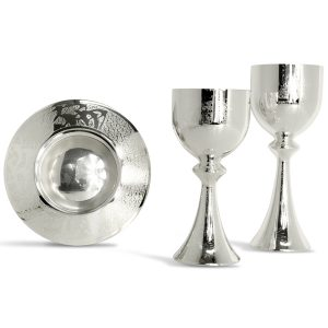 Silver Engraved Chalices and Ciborium