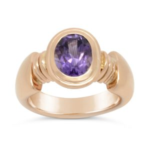 Roman Ring 18ct Gold and Amethyst